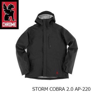 クローム CHROME メンズ レディース ジャケット STORM COBRA 2.0 ストーム コブラ 2.0 アウター 完全防水 ブラック 黒 男性用 女性用 AP220 AP220 国内正規品|hikyrm