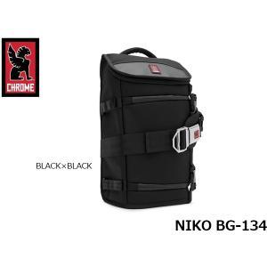 クローム メッセンジャーバック カメラバッグ NIKO ニコ BG-134 BLACK×BLACK 11.5L 耐水 CHROME BG134BKBK 国内正規品 hikyrm