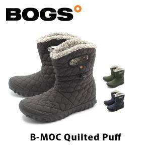 ボグス BOGS レディース ブーツ Bモック キルト パフ スノーブーツ ウィンター ショート ボア 雪 防水 保温 B-MOC Quilted Puff BOG009|hikyrm