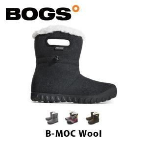ボグス BOGS レディース ブーツ Bモック ウール 防水 防滑 保温 ショートブーツ ファー ボア ウィンター スノーブーツ B-MOC Wool BOG010|hikyrm