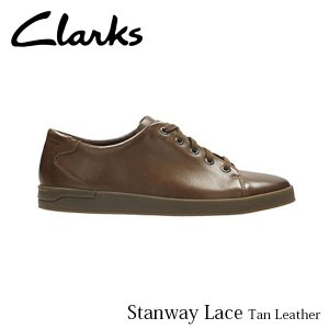 CLARKS クラークス シューズ メンズ Stanway Lace 26127242 Tan Leather CLA26127242 国内正規品|hikyrm