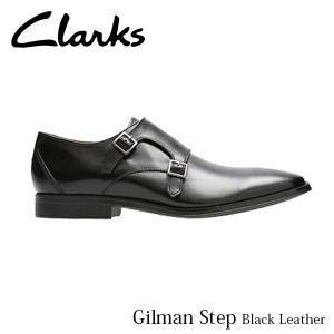 CLARKS クラークス シューズ メンズ Gilman Step 26127664 Black Leather CLA26127664 国内正規品|hikyrm