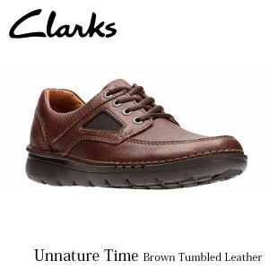 CLARKS クラークス シューズ メンズ Unnature Time 26128289 Brown Tumbled Leather CLA26128289 国内正規品|hikyrm