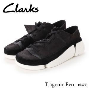 クラークス レディース トライジェニック イーヴォ スニーカー ブラック 黒 26128342 CLARKS CLA26128342 国内正規品|hikyrm