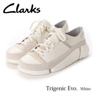 クラークス レディース トライジェニック イーヴォ スニーカー ホワイト 白 26128343 CLARKS CLA26128343 国内正規品|hikyrm