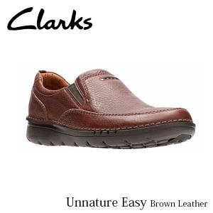CLARKS クラークス シューズ メンズ Unnature Easy 26128781 Brown Leather CLA26128781 国内正規品|hikyrm