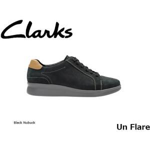 CLARKS クラークス シューズ レディース Un Flare 26129577 Black Nubuck CLA26129577 国内正規品|hikyrm