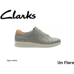 CLARKS クラークス シューズ レディース Un Flare 26129579 Sage Leather CLA26129579 国内正規品|hikyrm