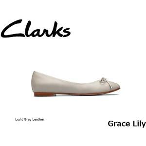 CLARKS クラークス パンプス レディース Grace Lily 26129908 Light Grey Leather CLA26129908 国内正規品|hikyrm