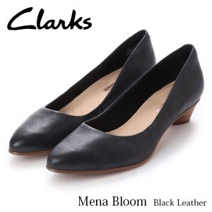 クラークス レディース パンプス メナブルーム ブラックレザー おしゃれ シューズ Mena Bloom 26132402 CLARKS CLA26132402 国内正規品 hikyrm