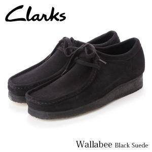 クラークス CLARKS ワラビー メンズ カジュアル シューズ ブラックスエード 黒 スエード 本革 モカシン レースアップ 革靴 26133279 CLA26133279 国内正規品|hikyrm