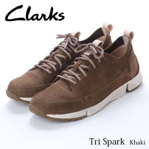クラークス CLARKS トライスパーク メンズ レザーシューズ ローカット スニーカー カーキ 本革 シューズ 軽量 革靴 26135655 CLA26135655 国内正規品|hikyrm
