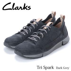 クラークス CLARKS トライスパーク メンズ レザーシューズ ローカット スニーカー ダークグレイ 本革 シューズ 軽量 革靴 26135668 CLA26135668 国内正規品 hikyrm