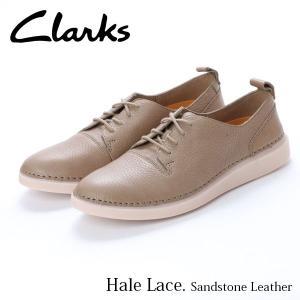 クラークス CLARKS ヘイルレース レディース カジュアル シューズ サンドストーンレザー レザー 本革 レースアップ 革靴 26138129 CLA26138129 国内正規品|hikyrm