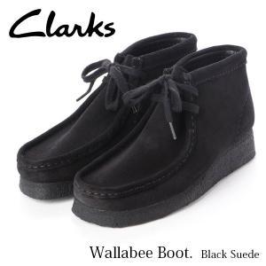 クラークス レディース ブーツ ウィメンズワラビーブーツ ブラックスエード ショートブーツ Wallabee Boot. 26143837 CLARKS CLA26143837 国内正規品|hikyrm