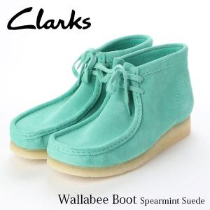クラークス CLARKS メンズ ブーツ メンズワラビーブーツ (スペアミントスエード) Wallabee Boot Spearmint Suede CLA26145283 国内正規品|hikyrm