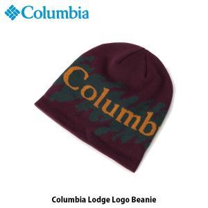 コロンビア Columbia メンズ レディース ニット帽 コロンビアロッジロゴビーニー Columbia Lodge Logo Beanie ハイキング キャンプ 帽子 CU0146 国内正規品|hikyrm