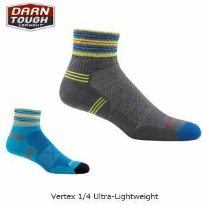 ダーンタフバーモント メンズ メリノウール 靴下 ソックス ヴァーテックス 1/4ソック ウルトラライト DARN TOUGH VERMONT DAR19441007 国内正規品|hikyrm