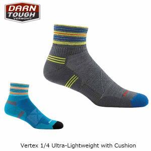 ダーンタフバーモント メンズ メリノウール 靴下 ソックス ヴァーテックス 1/4ソック ウルトラライトクッション DARN TOUGH VERMONT DAR19441009 国内正規品|hikyrm