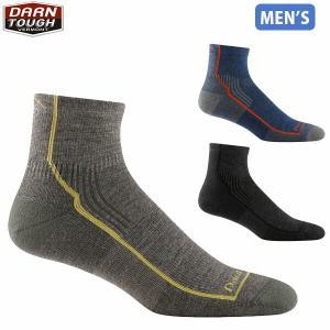 ダーンタフバーモント メンズ メリノウール 靴下 ソックス ハイカー 1/4ソック クッション 男性用 DARN TOUGH VERMONT DAR19441959 国内正規品|hikyrm