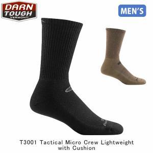 ダーンタフバーモント メンズ メリノウール ソックス 靴下 T3001 タクティカル マイクロクルー ライトクッション DAR19443011 国内正規品|hikyrm