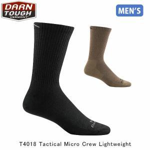 ダーンタフバーモント メンズ メリノウール ソックス 靴下 T4018 タクティカル マイクロクルー ライト 抗菌 消臭 DAR19444018 国内正規品|hikyrm