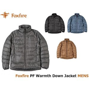 フォックスファイヤー Foxfire メンズ PFウォームスダウンジャケット ダウン ハイキング 登山 アウトドア PF Warmth Down Jacket FOX5113736 国内正規品|hikyrm
