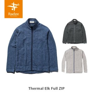 Foxfire フォックスファイヤー 長袖 セーター メンズ Thermal Elk Full Zip サーマルエルクフルZIP 5115661 FOX5115661|hikyrm