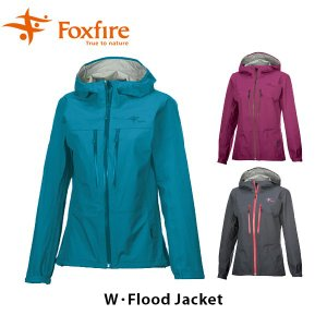 フォックスファイヤー Foxfire レディース W・フラッドジャケット 雨具 レインギア ゴアテックス GORE-TEX 防水 ハイキング W・Flood Jacket FOX7411648|hikyrm