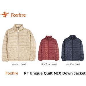 フォックスファイヤー Foxfire レディース PFユニークキルトミックスダウンジャケット アウター ダウン 羽毛 防寒 アウトドアウェア FOX8113897 国内正規品|hikyrm