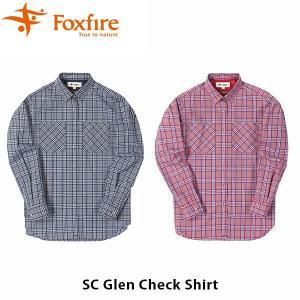 フォックスファイヤー Foxfire レディース SCグレンチェックシャツ シャツ チェック柄 長袖 カクシュール 2way スコーロン 虫対策 虫よけ UV 紫外線 FOX8212928|hikyrm