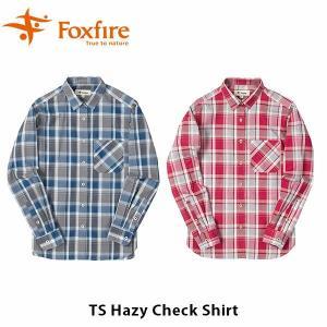 フォックスファイヤー Foxfire レディース TSヘイジーチェックシャツ シャツ チェック柄 長袖 薄手 ベーシック デザイン 山ガール 女性用 FOX8212930|hikyrm