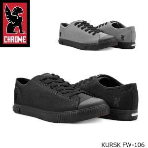 クローム CHROME スニーカー メンズ KURSK クルスク シューズ 靴 オールブラック 黒 男性用 FW106 FW106 国内正規品|hikyrm