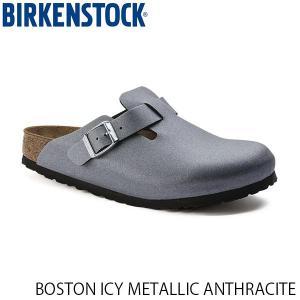 ビルケンシュトック メンズ レディース サンダル ボストン BOSTON ICY METALLIC ANTHRACITE ビルコフロー 幅狭 BIRKENSTOCK GC1014291 国内正規品 hikyrm