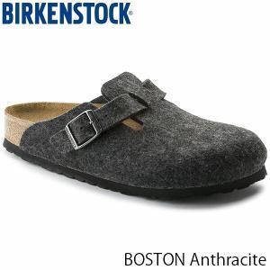 ビルケンシュトック サンダル メンズ ボストン BOSTON 革 旅行 おしゃれ ウールフェルト アンスラサイト 幅広 男性用 BIRKENSTOCK GC160371 国内正規品|hikyrm