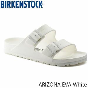 ビルケンシュトック サンダル レディース アリゾナ ARIZONA EVA エヴァ エバ ビーチサンダル ぺたんこ おしゃれ 幅狭 ホワイト BIRKENSTOCK GE129443 国内正規品|hikyrm