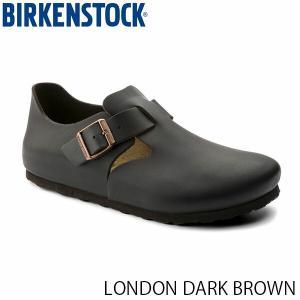 ビルケンシュトック レディース シューズ ロンドン LONDON DARK BROWN ナチュラルレザー 幅狭 BIRKENSTOCK GS1004304 国内正規品|hikyrm