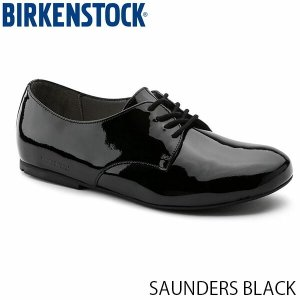 ビルケンシュトック レディース シューズ ソーンダース SAUNDERS BLACK パテントレザー 幅狭 BIRKENSTOCK GS1004537 国内正規品|hikyrm