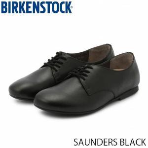 ビルケンシュトック レディース シューズ ソーンダース SAUNDERS BLACK ナチュラルレザー 幅狭 BIRKENSTOCK GS1006335 国内正規品|hikyrm