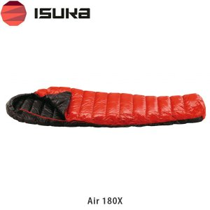 イスカ シュラフ 寝袋 エア 180X エアモデル マミー型 軽量 コンパクト 洗える 夏 キャンプ 登山 車中泊 キャンプ用品 1374 ISUKA ISU1374|hikyrm