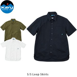 KAVU カブー メンズ 半袖 シャツ ショートスリーブループシャツ ボタンシャツ 19820606 KAV19820606 国内正規品 hikyrm