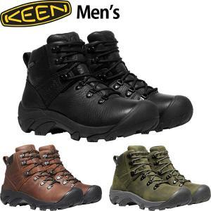 KEEN キーン メンズ ハイキングシューズ ピレニーズ PYRENEES MEN トレッキング 登山靴 オールレザー スニーカー KEE0055 国内正規品|hikyrm