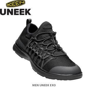 KEEN キーン メンズ シューズ ユニーク エクソ 靴 アウトドア UNEEK EXO MEN TripleBlack KEE1019286 国内正規品|hikyrm