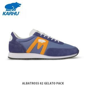 KARHU カルフ メンズ レディース スニーカー アルバトロス 82 ALBATROSS 82 GELATO PACK MARLIN/CADMIUM YELLOW シューズ KH802591|hikyrm