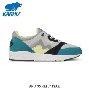 KARHU カルフ メンズ レディース スニーカー アリア 95 ラリー ARIA 95 RALLY PACK LAKE BLUE / LEMONADE シューズ KH803048|hikyrm