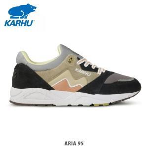 KARHU カルフ メンズ レディース スニーカー シューズ ARIA 95 JET BLACK/TAOS TAUPE KH803053|hikyrm