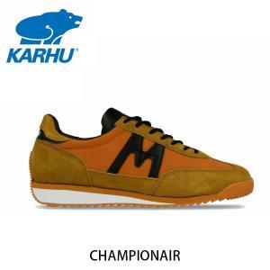 KARHU カルフ メンズ レディース スニーカー チャンピオンエア CHAMPIONAIR スウェード×ナイロン ジャファオレンジ×ブラック ローカット 定番 北欧 KH805001|hikyrm