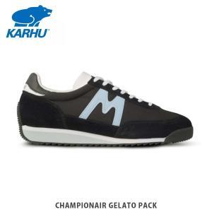 KARHU カルフ メンズ レディース スニーカー チャンピオンエアー CHAMPIONAIR GELATO PACK JET BLACK / BLUE FOG シューズ KH805022|hikyrm