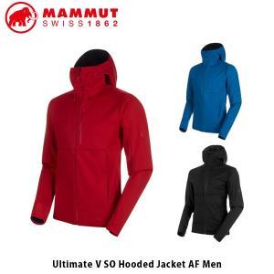 マムート メンズ アルティメイト フーデッド ジャケット ソフトシェル ULTIMATE V SO HOODED JACKET AF MEN ハイキング 防風 MAMMUT 1011-00351 MAM101100351|hikyrm