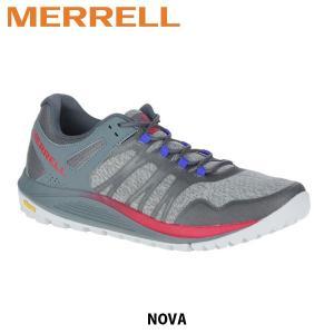 メレル MERRELL メンズ トレイルランニングシューズ Nova ノヴァ ローカット モニュメント / タービュランス メッシュ ビブラムソール 48827 MERM48827|hikyrm